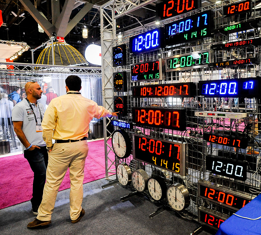 Digital-Clocks,-NAB-Show,-Las-Vegas