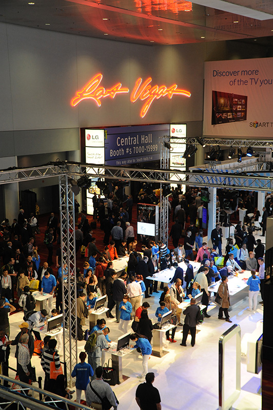 International-CES-aerial,-Las-Vegas-Convention-Center