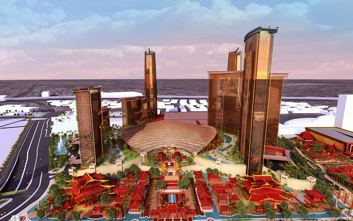 Resorts-World,-Las-Vegas,-Rendering