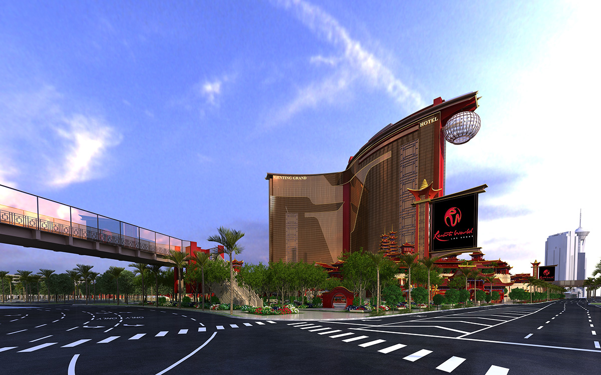 World-Resorts-Las-Vegas,-Street-Level,-Rendering-View