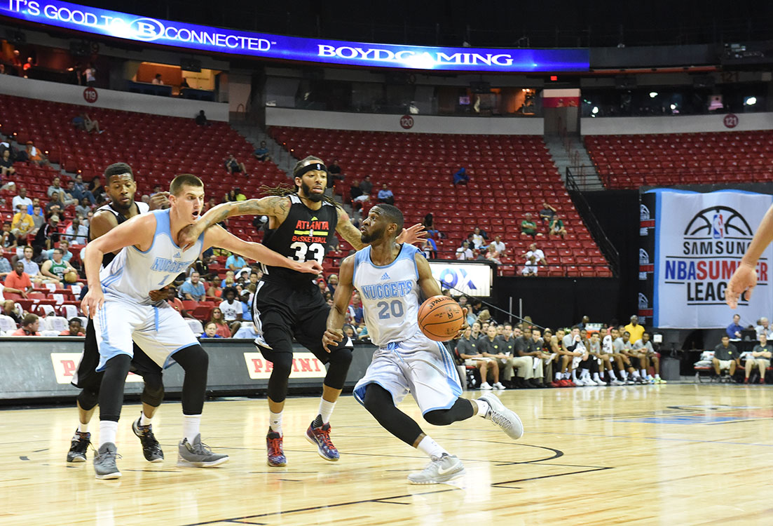 Atlanta Hawks vs Denver Nuggets, Samsung NBA Summer League in Las Vegas