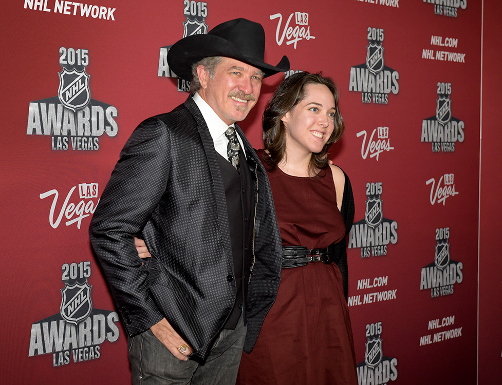 Kix-Brooks,-of-country-duo-Brooks-&-Dunn,-with-daughter-Molly-on-the-red-carpet,-2015-NHL-Awards,-MGM-Las-Vegas