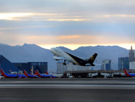 8/2/13 McCarran airport with Las Vegas Strip