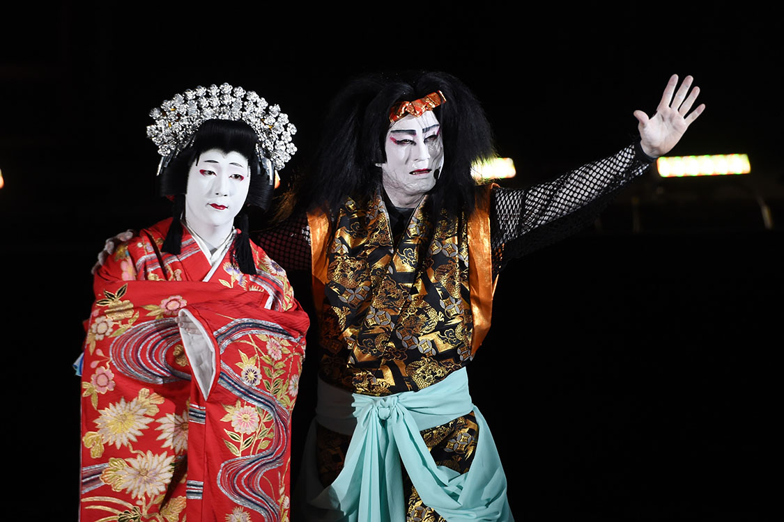 Traditional Japanese Kabuki Performance, Fountains of Bellagio, Las Vegas