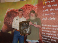 Bart the Bear's bronze cast of foot, Gary Wolfe past executive director Vital Ground, Whitey a big supporter of VG
