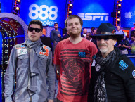 Joe McKeehen, Neil Blumenfield, Joshua Beckley, Final 3 Players, 2015 WSOP Main Event Las Vegas, Photo Jayne Furman