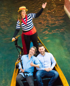 Joseph Griffin and son Evan Redo Las Vegas Vacation, Venetian Gondola
