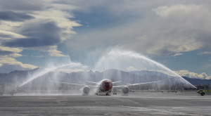 Norwegian Air Arriving in Las Vegas, McCarran International Airport