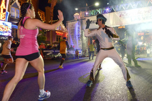 Rock 'n' Roll Marathon runners greeted by Elvis, Las Vegas Strip