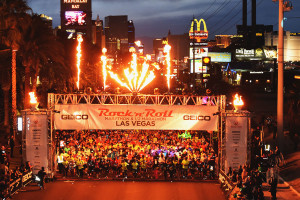 Rock 'n' Roll Marathon starting line, Las Vegas Strip