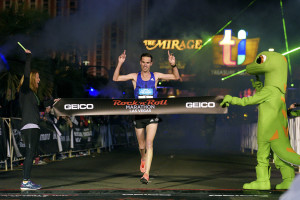 Rock 'n' Roll Marathon winner  Andrew Lemoncello, Las Vegas Strip