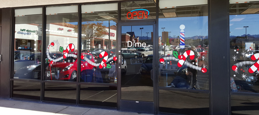 Dime Salon and Barber Shop Entrance 2, West Las Vegas