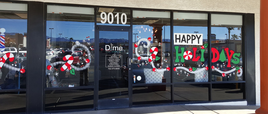 Dime Salon & Barber Shop Entrance, West Las Vegas