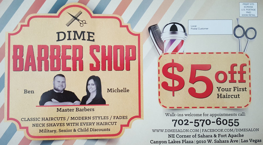 Dime Salon & Barber Shop, Summerlin South, Las Vegas