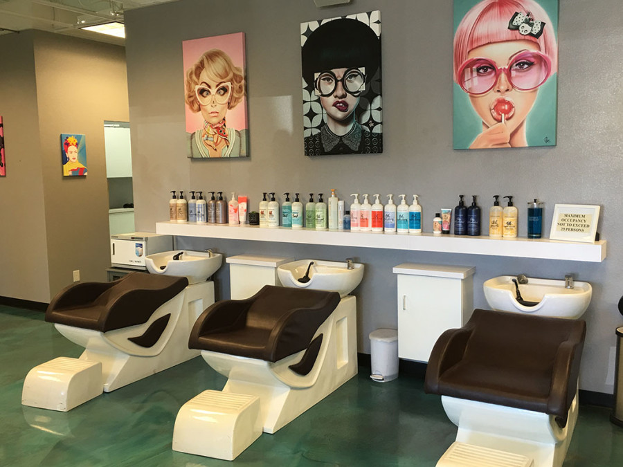 Inside Dime Salon & Barber Shop, Sahara and Fort Apache, Las Vegas