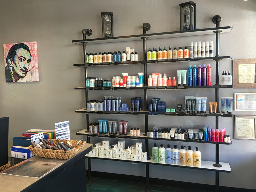 Products inside Dime Salon & Barber Shop, South Summerlin, Las Vegas