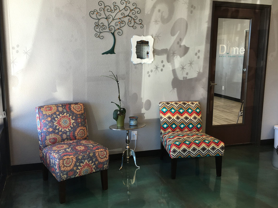 Lounge in Dime Salon & Barber Shop, Sahara & Fort Apache, West Las Vegas