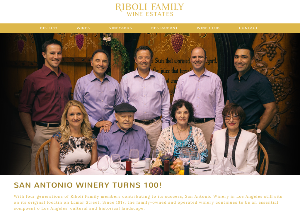 Riboli Family Wine Estates, San Antonio Winery Turns 100
