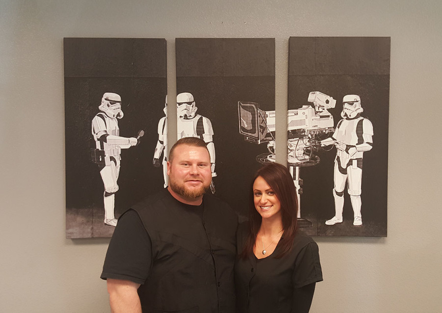 Star Wars Fun, Master Barbers Ben Orchard & Michelle Pancare, Dime Salon and Barber Shop, Las Vegas