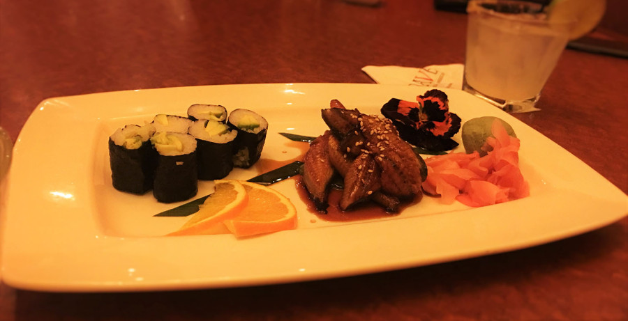 Avocado & Unagi Sushi at Crave Restaurant, Downtown Summerlin, Las Vegas