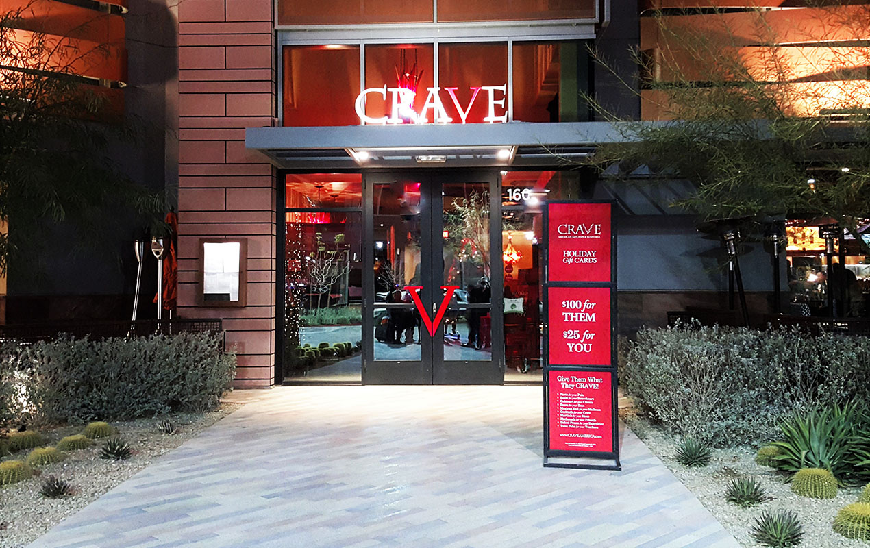 Crave Restaurant Entrance Downtown Summerlin Las Vegas