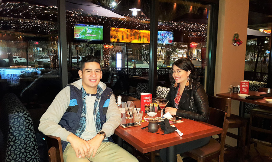Happy customers at Crave Restaurant, Downtown Summerlin, Las Vegas