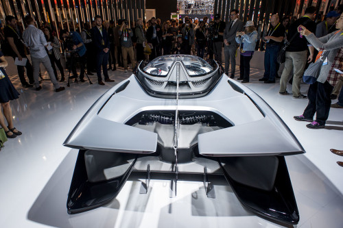 Faraday Future FFZero1 all-electric concept car CES 2016 Las Vegas.