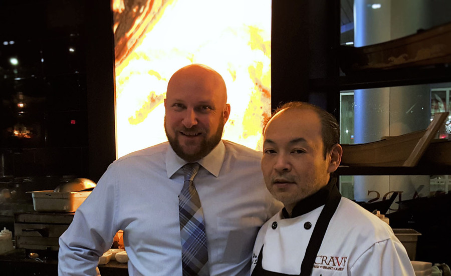Left, General Manager & Executive Chef of Crave Restaurant Jason Talbott, Right, Executive Sushi Chef Hiroki Ohata, Downtown Summerlin Las Vegas