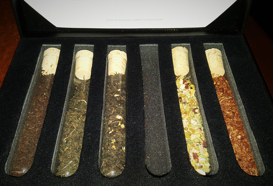 Mighty Leaf Tea Sampler, Crave Restaurant in Downtown Summerlin, Las Vegas