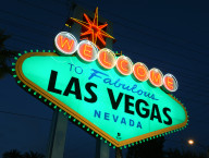 Las Vegas Sign Goes Green, St. Patricks Day