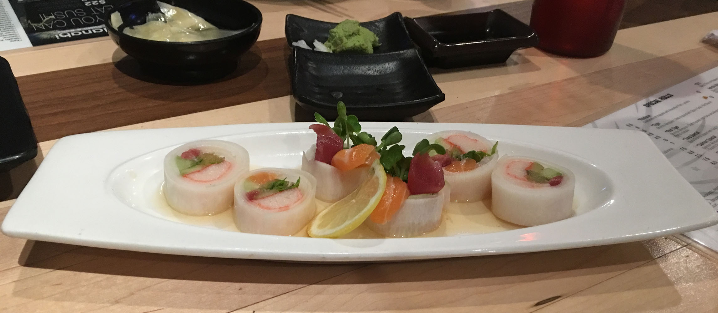 Another Tasty Entree, Hanabi Sushi & Rolls, Village Square Las Vegas