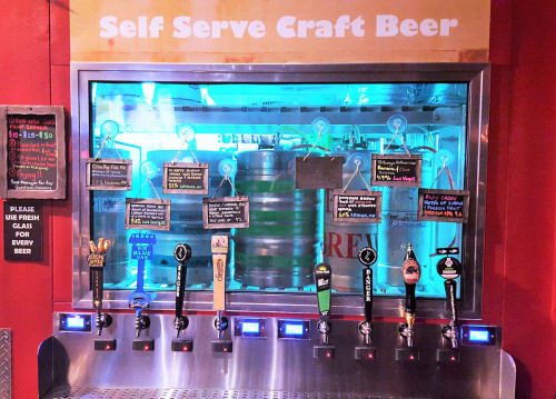 Self Serve Craft Beer, Nacho Daddy Restaurant, West Las Vegas