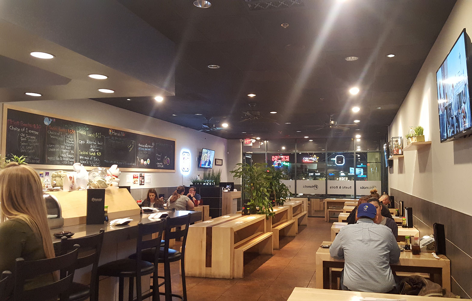 Stylish Casual Comfortable Environment, Hanabi Sushi & Rolls, West Sahara Village Square in Las Vegas