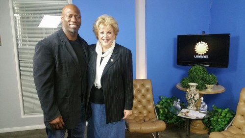 Victor B. Cohen, Fitness Specialist, with Carolyn Goodman, Mayor of Las Vegas